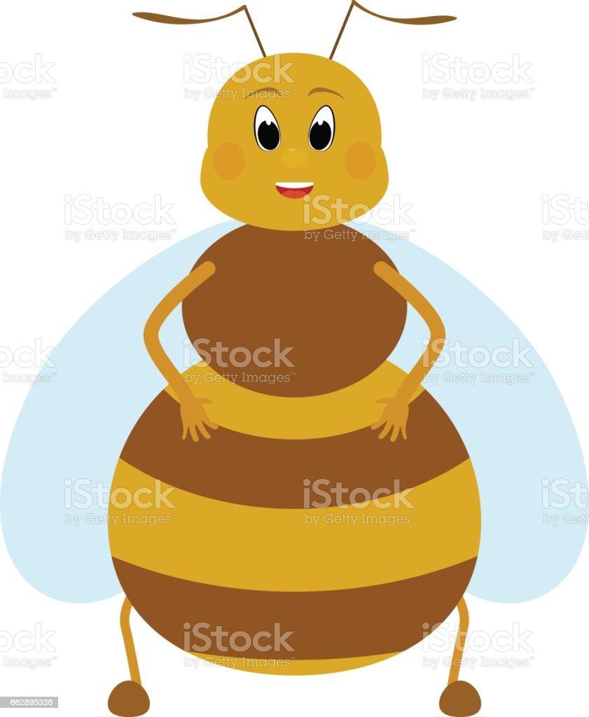 cartoon fat honey bee character stock vector art 662895336 istock