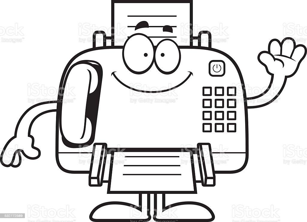 Cartoon Fax Machine Waving Stock Vector Art  More Images -8735