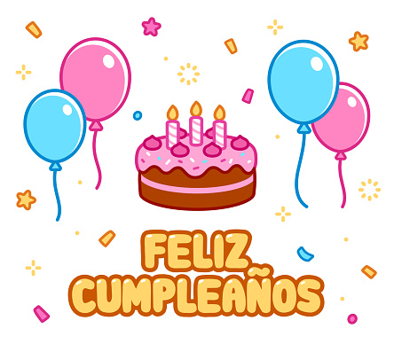 Cartoon Feliz cumpleaños Happy Birthday