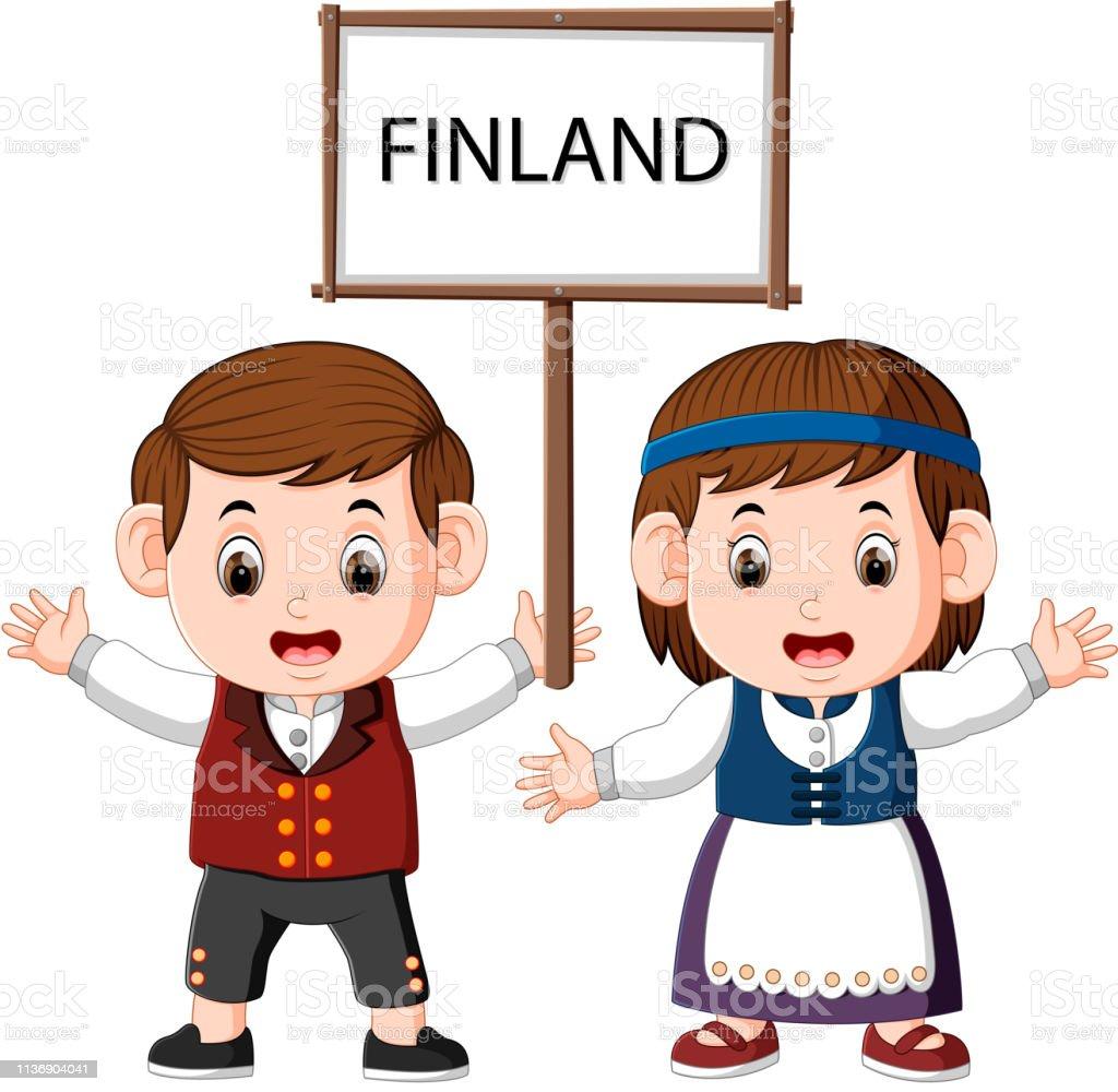 Bocetos De Tatuajes Tradicionales ilustración de la pareja de dibujos animados de finlandia