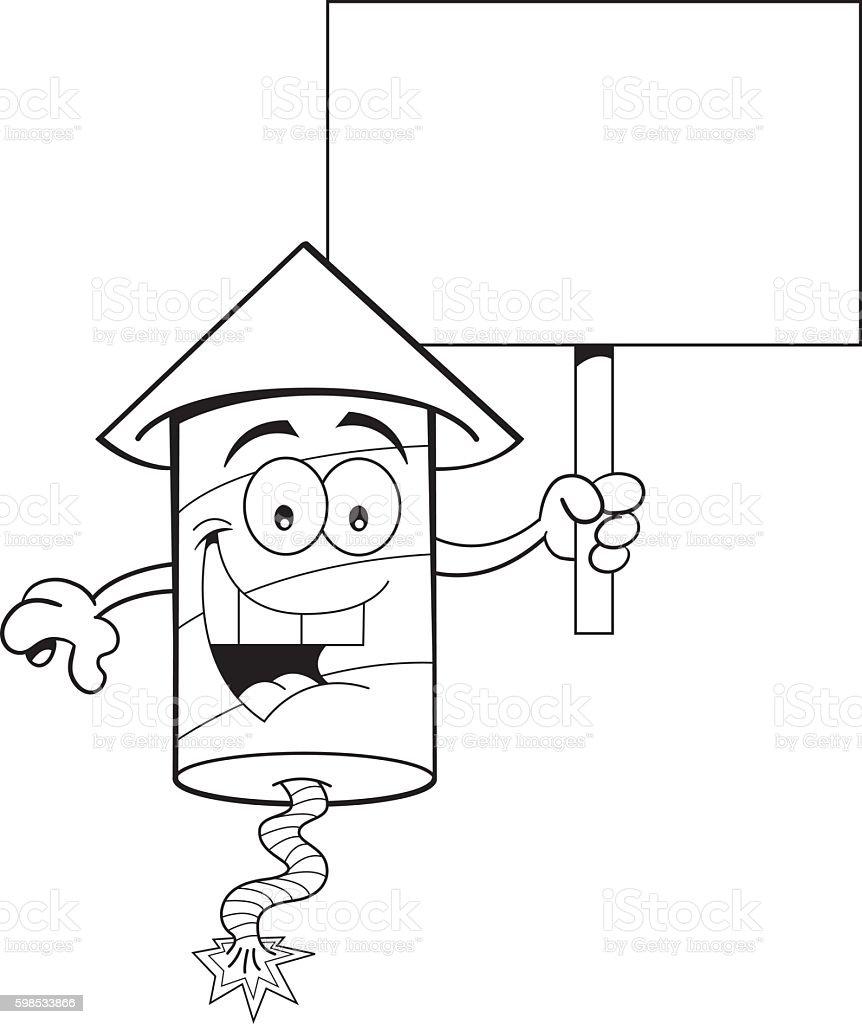 Cartoon Firecracker Holding a Sign cartoon firecracker holding a sign – cliparts vectoriels et plus d'images de 4 juillet libre de droits
