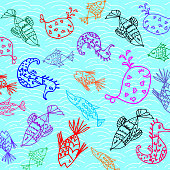 Cartoon fish pattern
