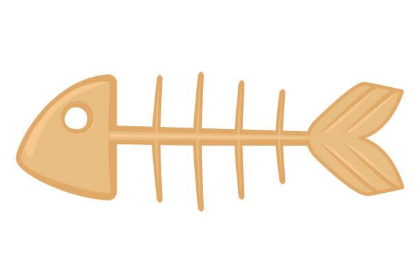 漫画の魚の骨格 - 魚の骨点のイラスト素材/クリップアート素材/マンガ素材/アイコン素材