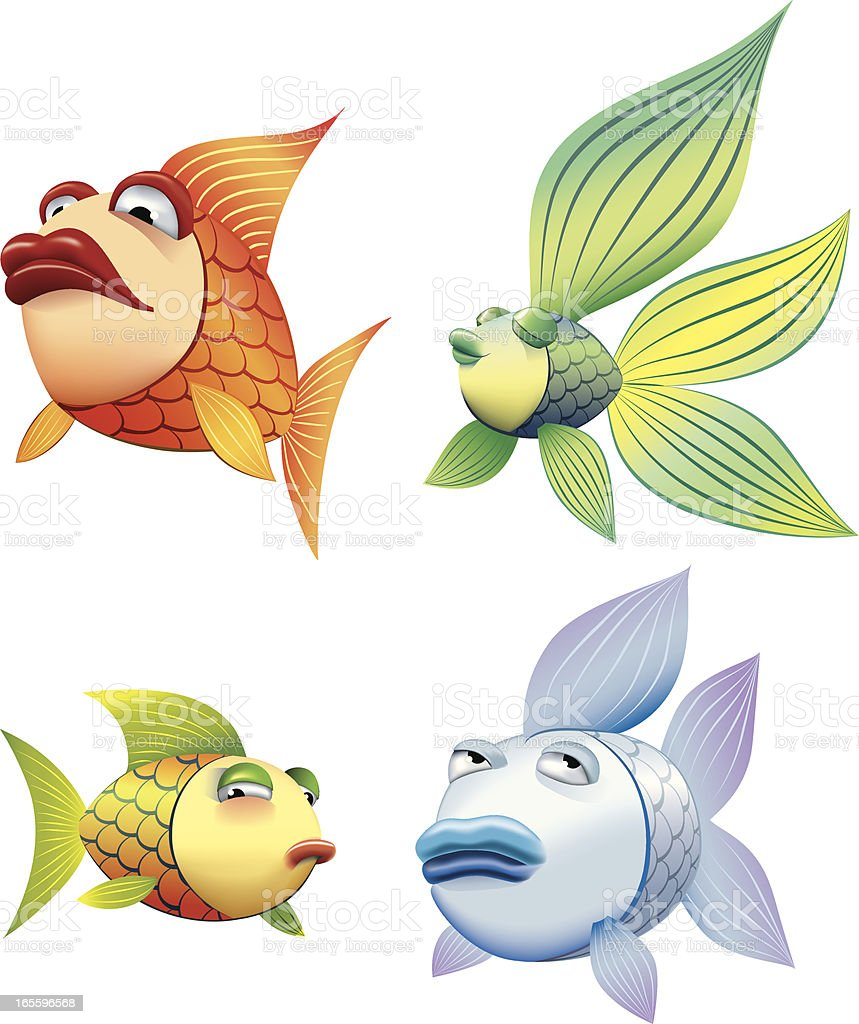 Cartoon Fish royalty-free cartoon fish stock vector art & more images of animal