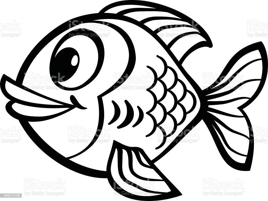 Poisson dessin anim cliparts vectoriels et plus d - Dessin de poisson ...