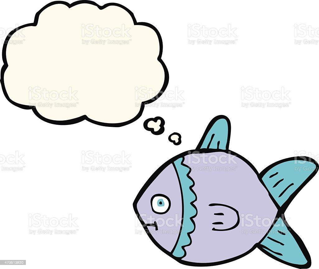 カットイラスト魚思考の吹き出し付き のイラスト素材 470513830 | istock