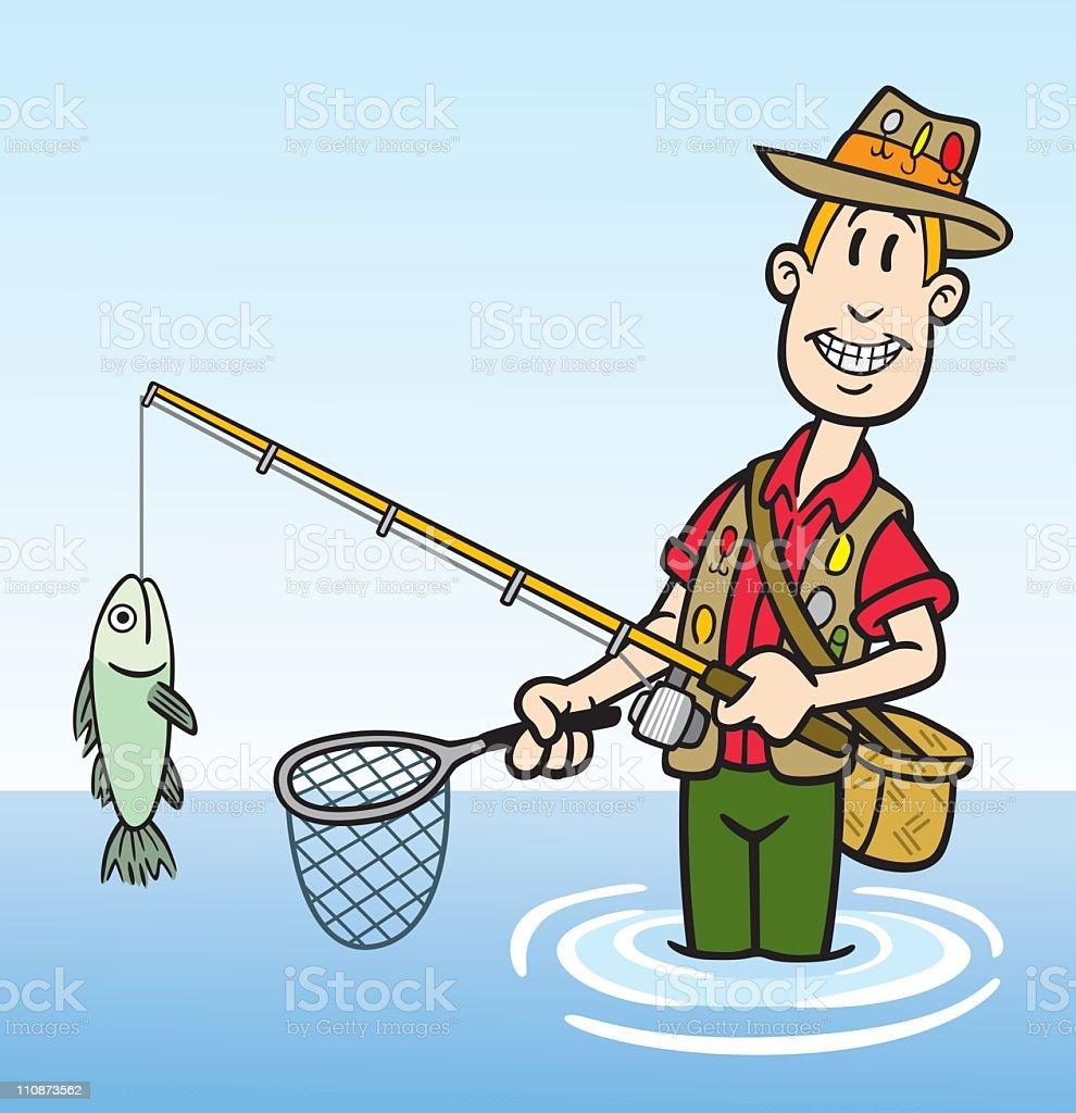Cartoon Fisherman Stock Illustration - Download Image Now ...
