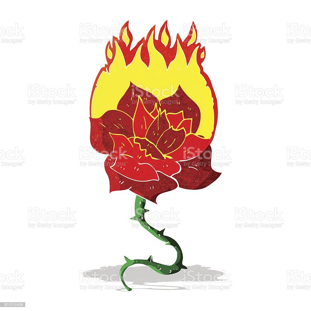 d2a917ebb cartoon flaming rose tattoo royalty-free cartoon flaming rose tattoo stock  vector art &