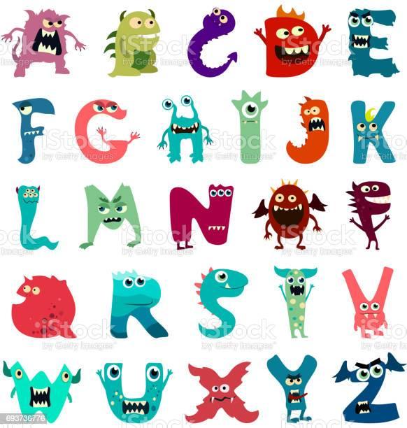 Cartoon flat monsters alphabet big set icons colorful monster kids vector id693736776?b=1&k=6&m=693736776&s=612x612&h=1hchvh323ongbex0syvnnpmge9s1rpqdfyorqhc4oe8=