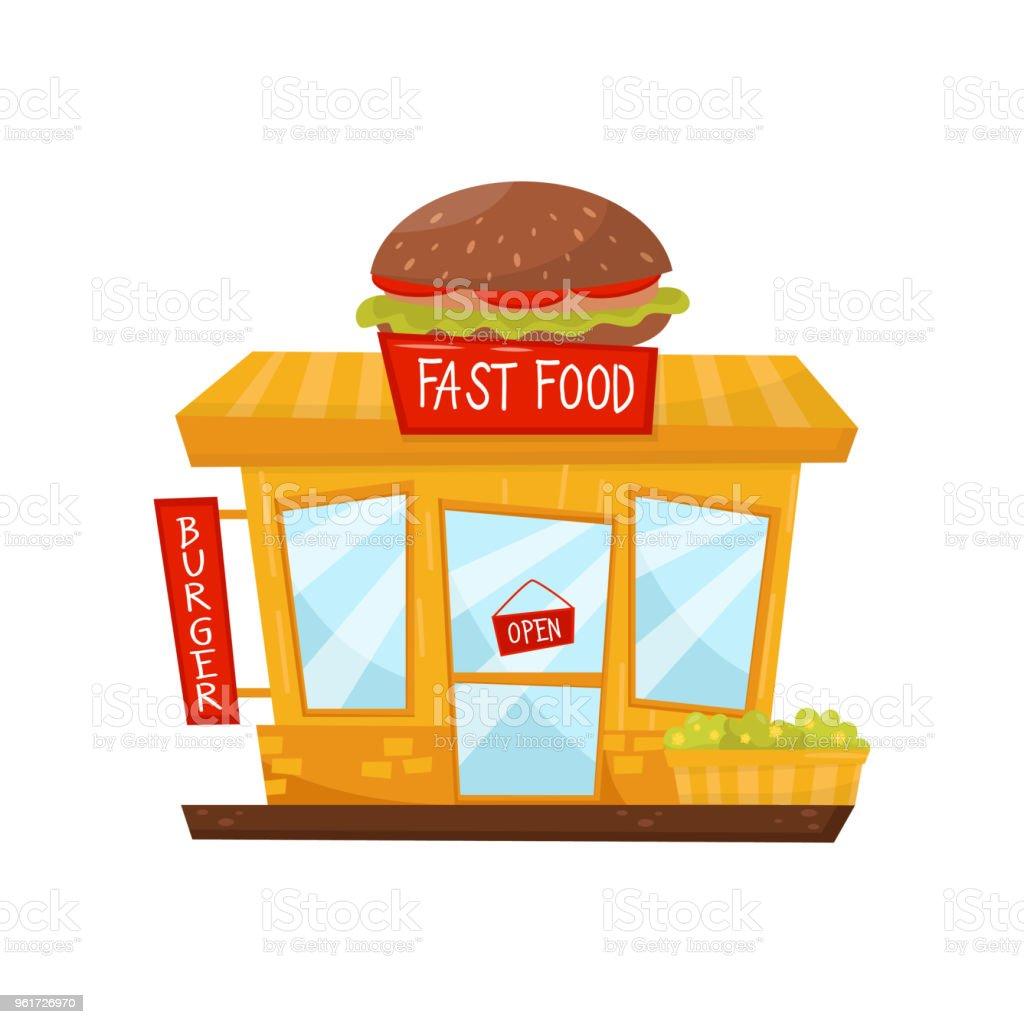 Ilustración de Icono De Dibujos Animados Vector Plano De Restaurante ...