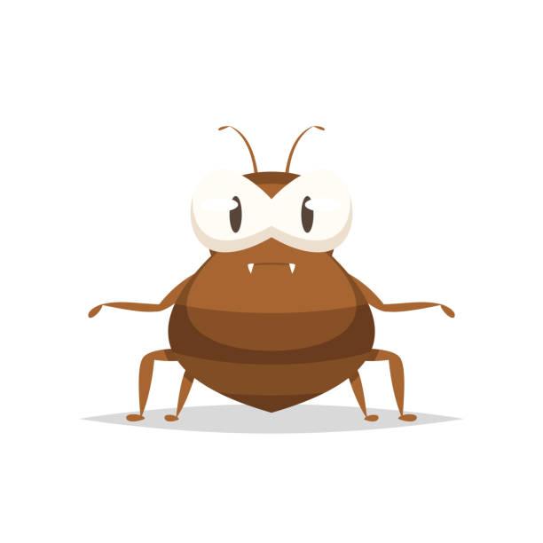 Cartoon flea vector isolated Vector element parasitic stock illustrations