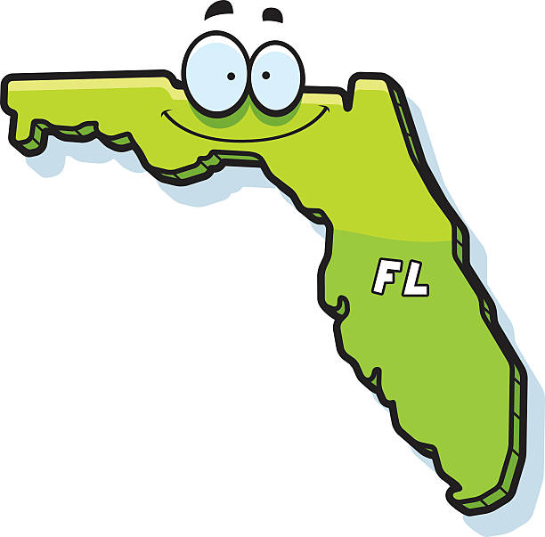 Clip Art Of State Fl : Royalty free cartoon of the state florida clip art vector