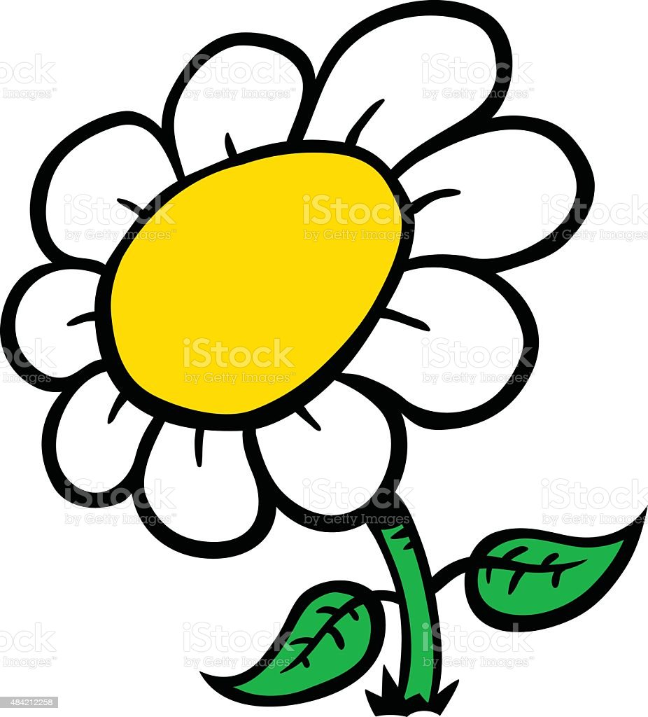 Cartoon Flower vector art illustration