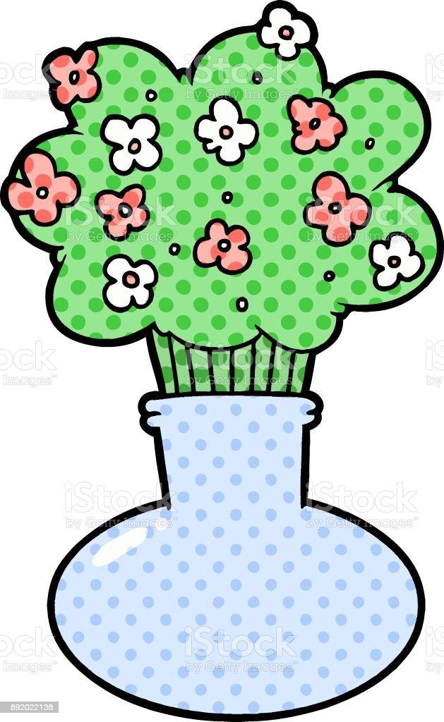 Cartoon Flowers In Vase Stock Vector Art More Images Of Art