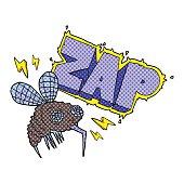 cartoon fly zapped