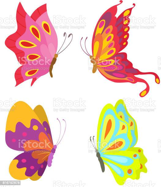 Cartoon flying butterflies set isolated on white vector illustration vector id816762878?b=1&k=6&m=816762878&s=612x612&h=vchmmac5 n5aingo4bfugmzv3p4rpfbzdemotk tyl8=