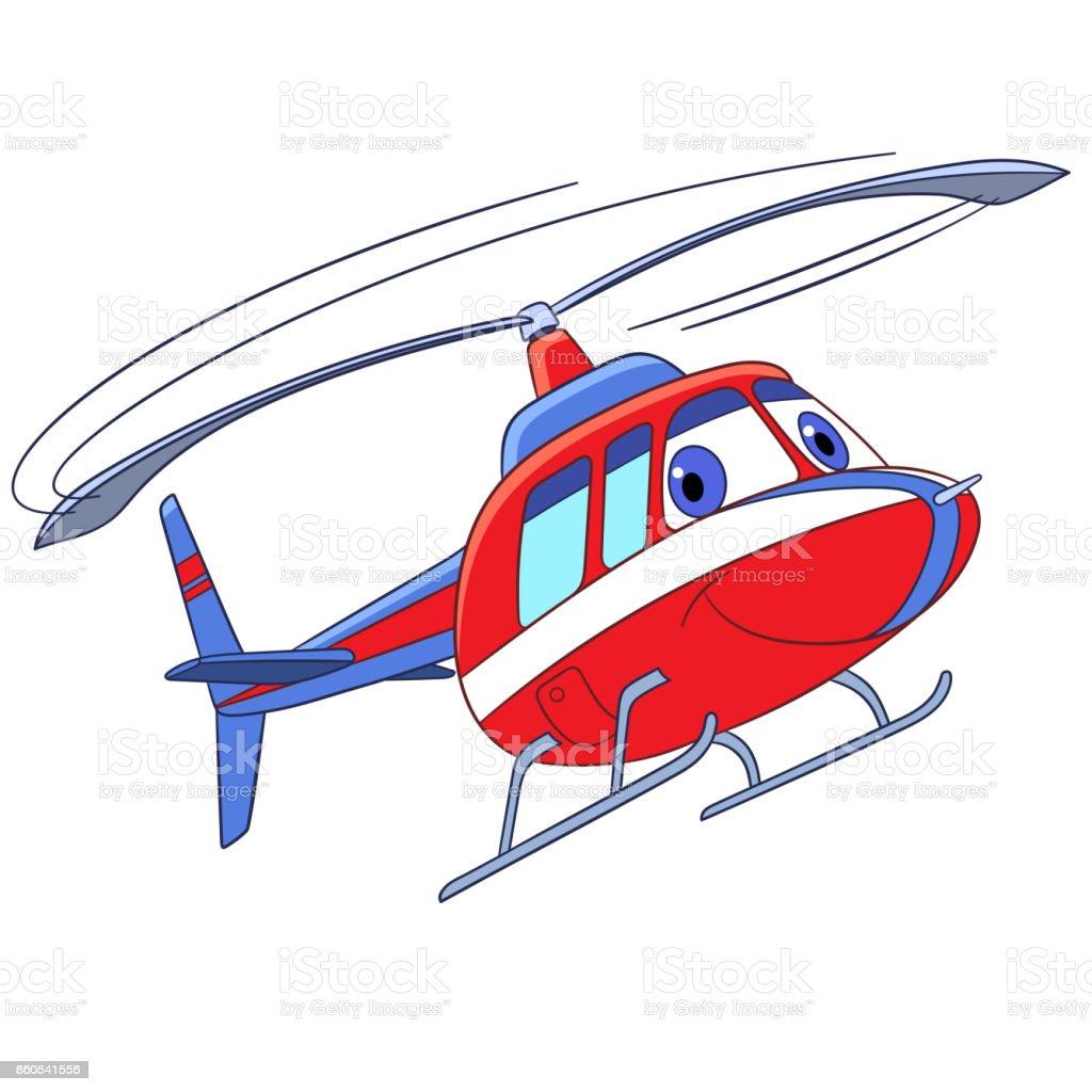 Ilustración de Dibujos Animados De Vuelo Helicóptero y más banco de ...