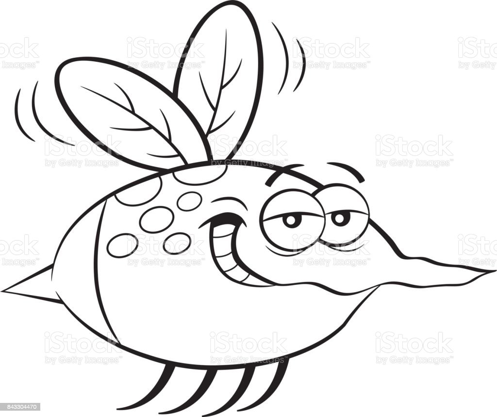 Cartoon flying insect.