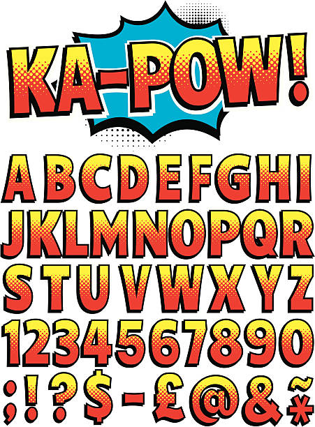 Cartoon Font vector art illustration
