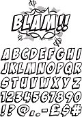Cartoon font for spelling out all your favorite exclamations! Note: all the white is cut out.