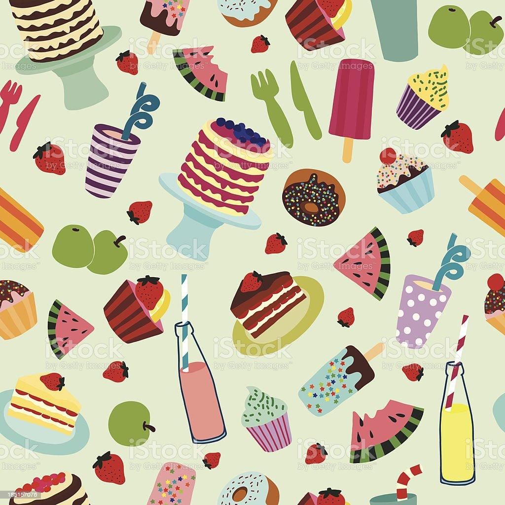 Cartoon Food pattern royalty-free stock vector art