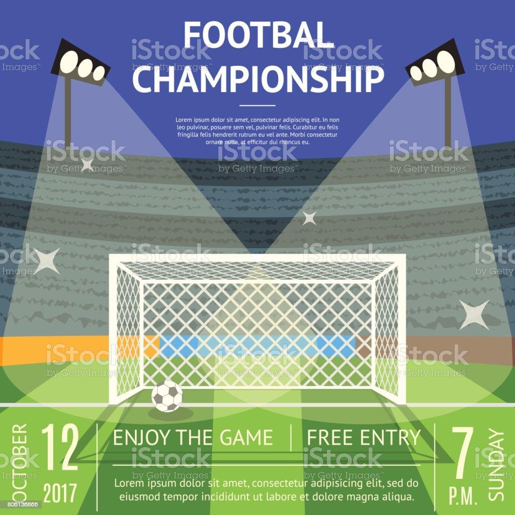 Ilustración de Dibujos Animados Futbol Campeonato Fútbol Campo ...