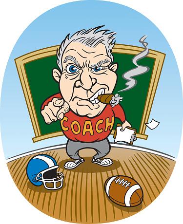 Cartoon Football Coach
