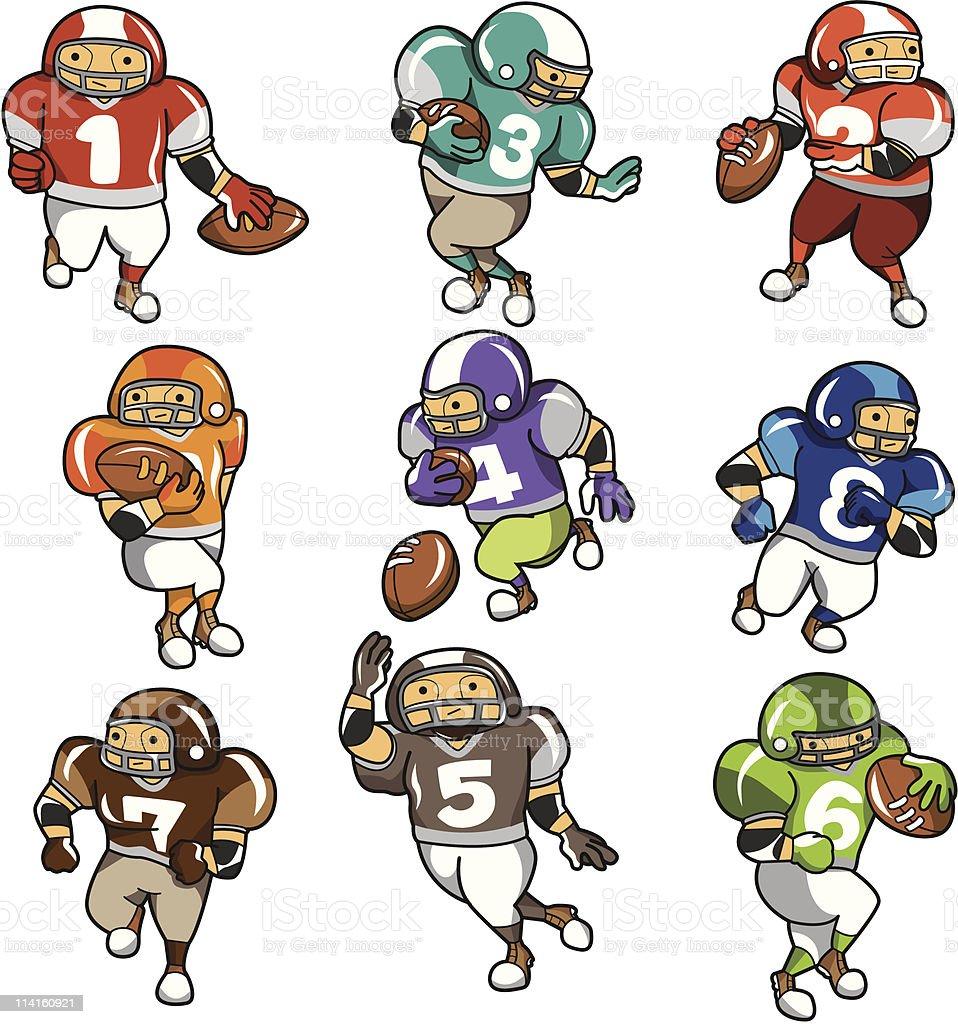 Ic ne de dessin anim joueur de football am ricain vecteurs libres de droits et plus d 39 images - Dessin football americain ...