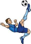 Cartoon Football Soccer Player