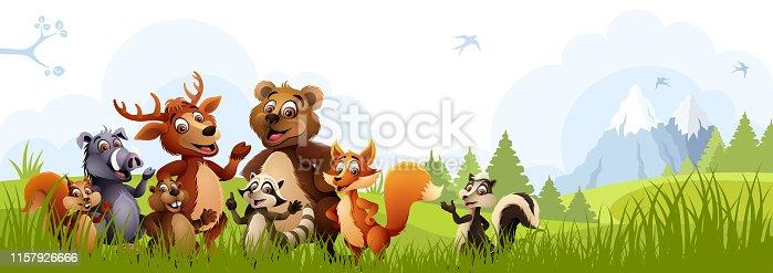 Cartoon Forest Animals