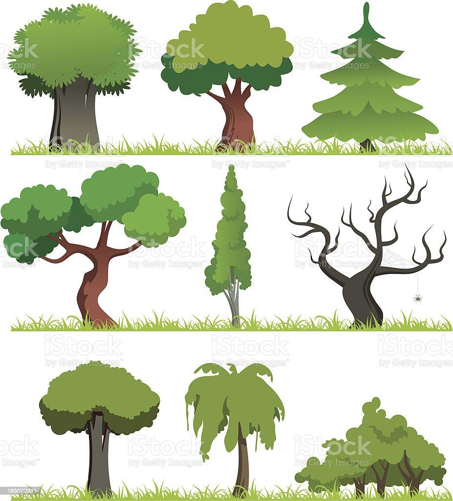 Fumetto di foresta - illustrazione arte vettoriale