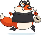 Cartoon Fox Burglar