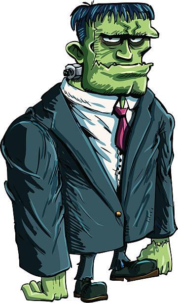 comic frankenstein boss - frankenstein stock-grafiken, -clipart, -cartoons und -symbole