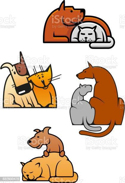 Cartoon friending cat and dog pets vector id532933475?b=1&k=6&m=532933475&s=612x612&h=821gyazabyfotullswozkenko81k01o9ogftdmcg5qu=