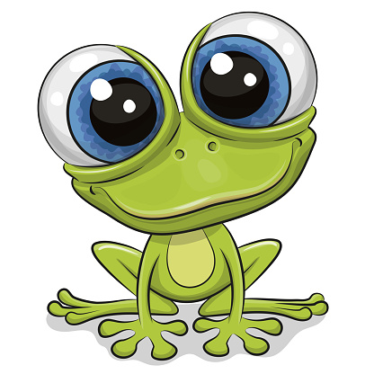 Cartoon Frog isolated on a white background