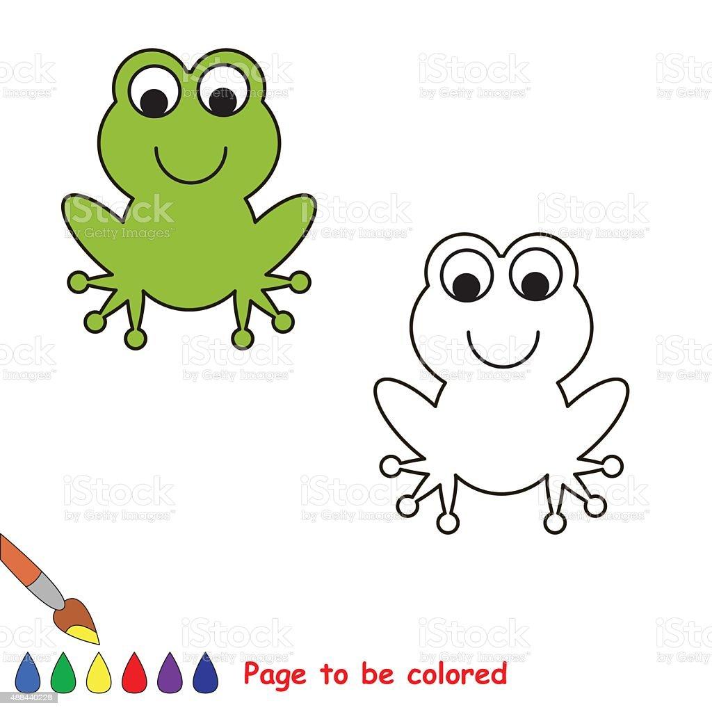 Sapo colorido dos desenhos de arte vetorial acervo e