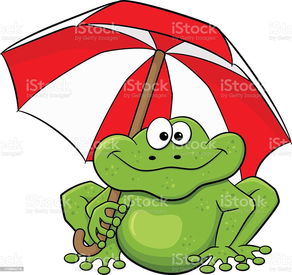 Coloriage Grenouille Avec Parapluie.Grenouille En Dessin Anime Avec Parapluie Vecteurs Libres De
