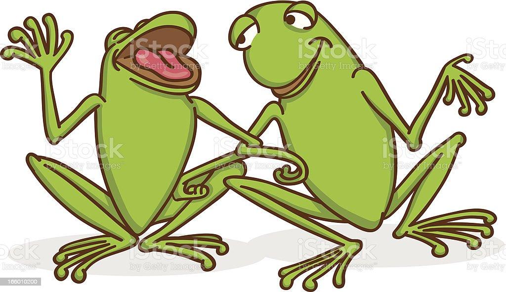 Comic Frosch Unterhalten Stock Vektor Art Und Mehr Bilder Von