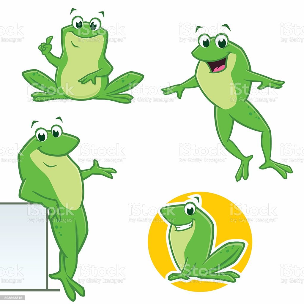 Comic Frosch Stock Vektor Art Und Mehr Bilder Von Charakterkopf