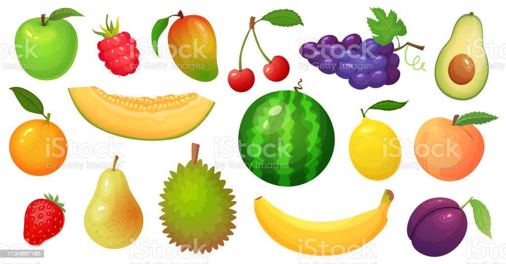 Fruits De Dessin Anime Fruit De Mangue Tranche De Melon Et Banane