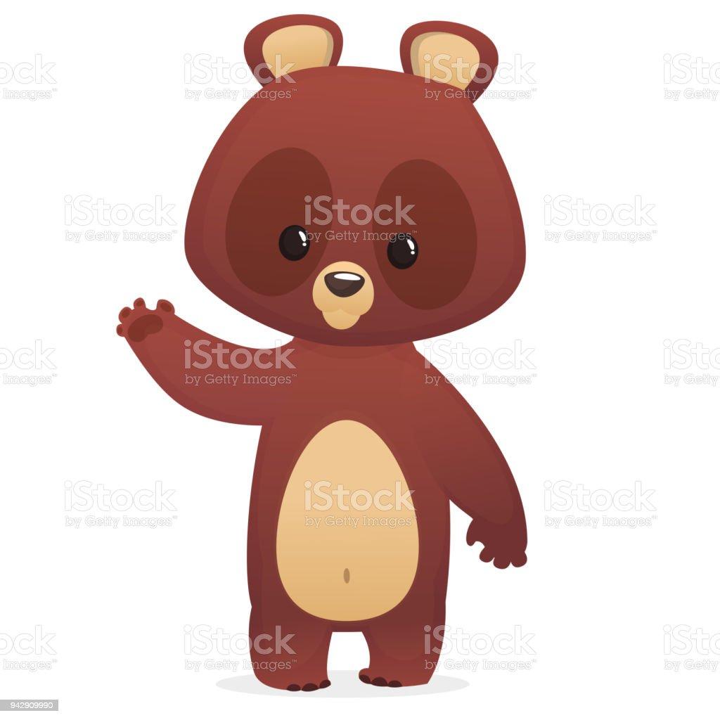 ilustração de personagem de desenho animado urso engraçado com olhos