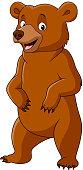 Cartoon funny bear standing