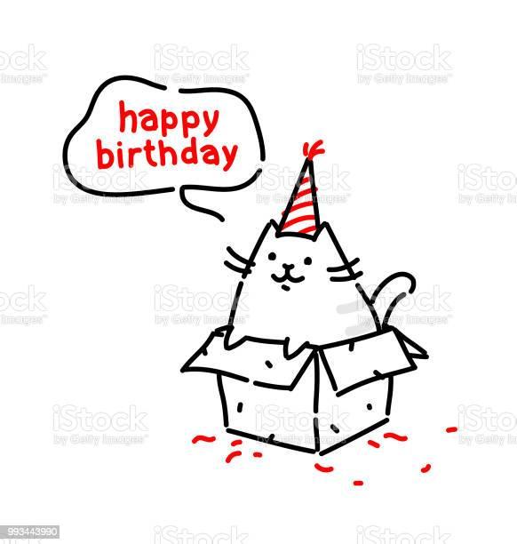 Cartoon funny cat congratulates on his birthday vector flat the is vector id993443990?b=1&k=6&m=993443990&s=612x612&h=9s6f tn bf gxqswqpod04zwiep73oxnkqabbxu59zi=