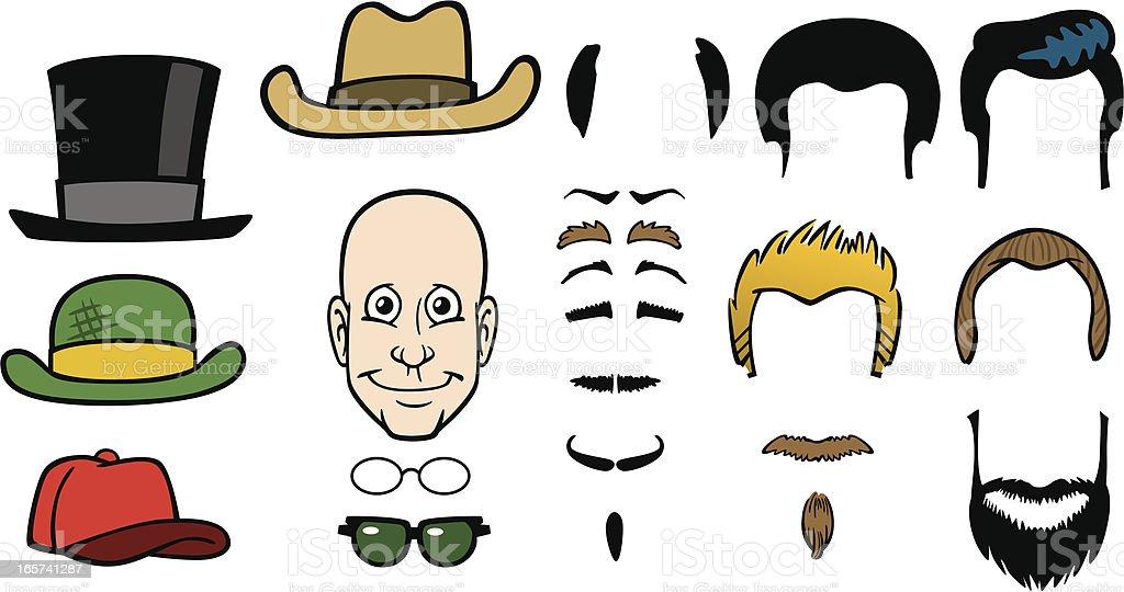 Cartoon Funny Face vector art illustration