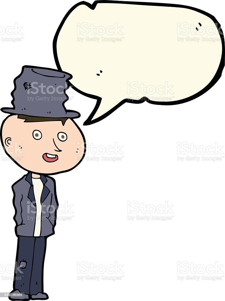 Homem dos desenhos animados engraçado especial com discurso de Bolha ilustração de homem dos desenhos animados engraçado especial com discurso de bolha e mais banco de imagens de adulto royalty-free