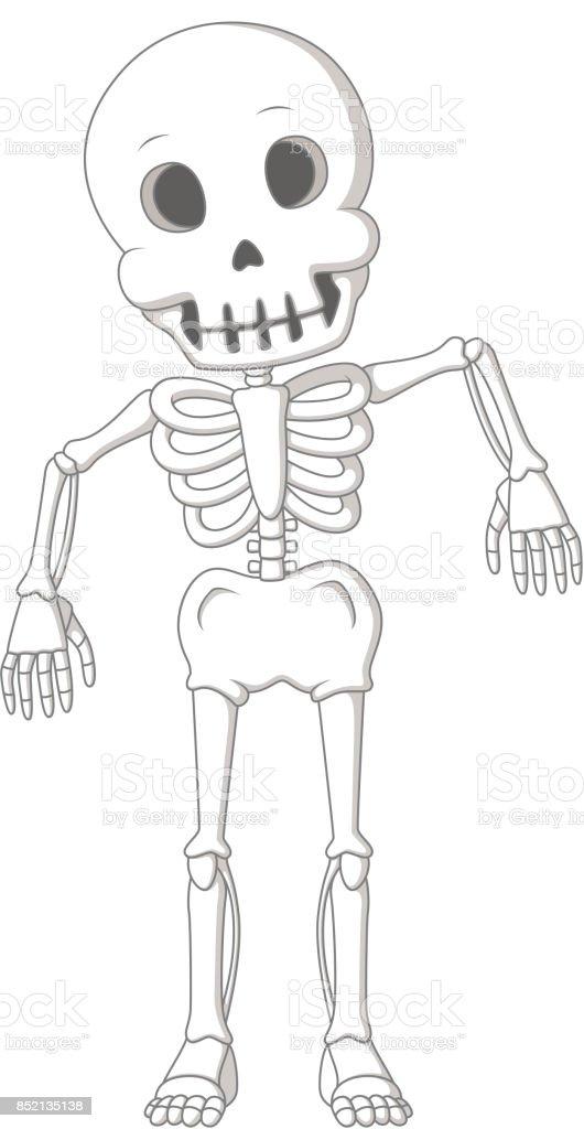 Ilustración de Danza De Esqueleto Humano Divertido Dibujos Animados ...