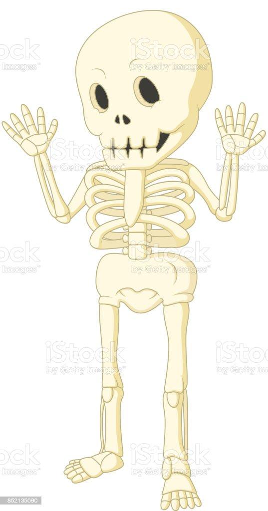 Ilustración de Esqueleto Humano Divertido Dibujos Animados Bailando ...