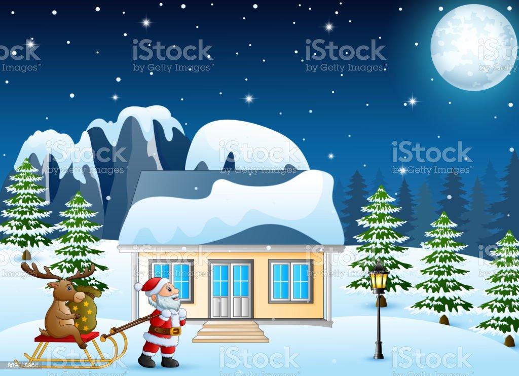 Nouveau Adultes Drôle//Humour Santa et renne de Noël Carte de vœux