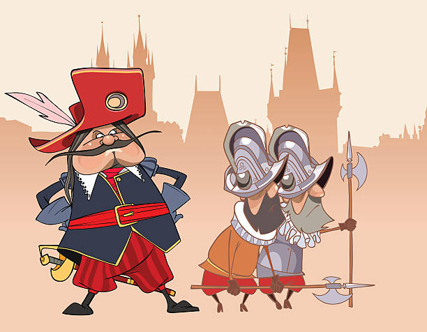 Funny Guard Clip Art: Best Musketeer Illustrations, Royalty-Free Vector Graphics