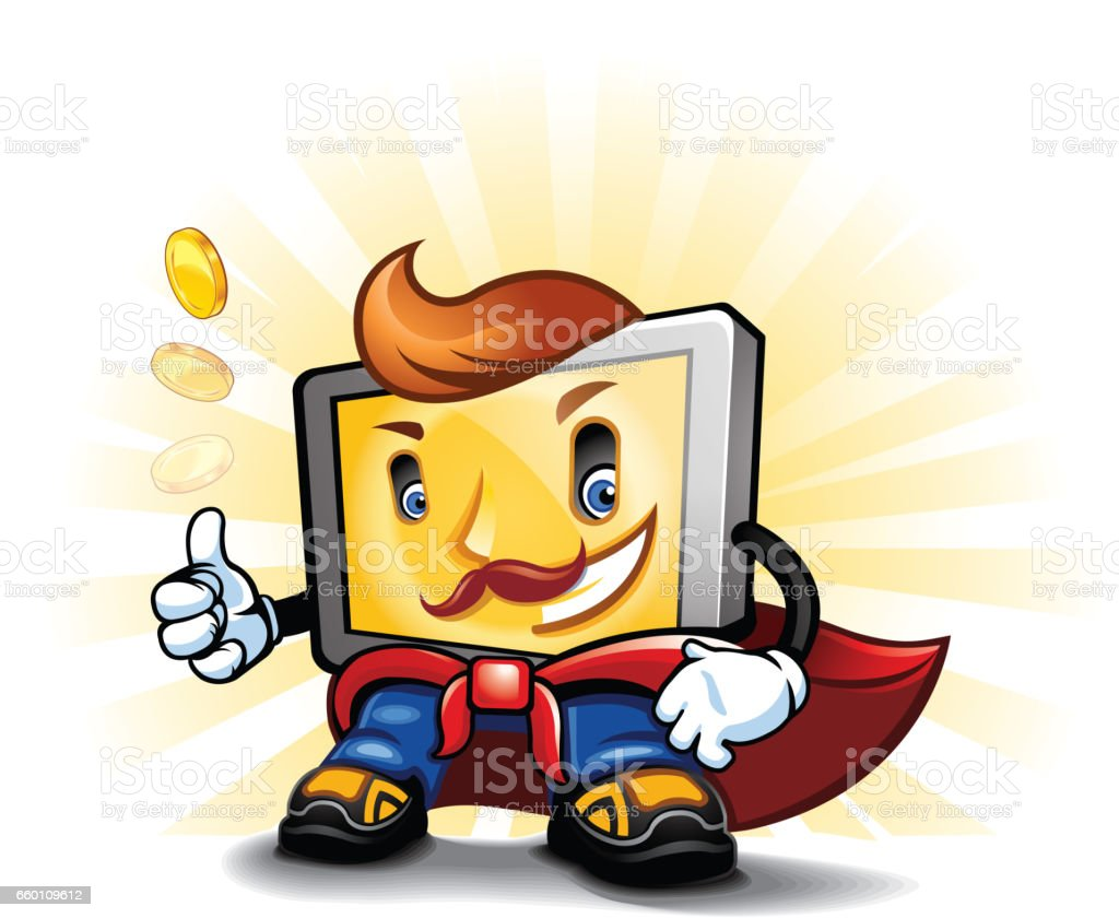 Cartoon gadget character royalty-free cartoon gadget character stock vector art & more images of cape - garment